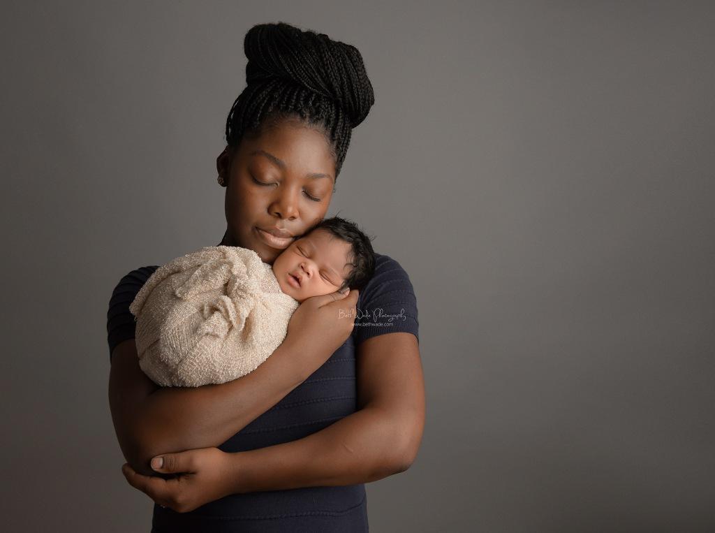 sweetest baby cheeks + a head full of hair! {south charlotte newborn photographer}