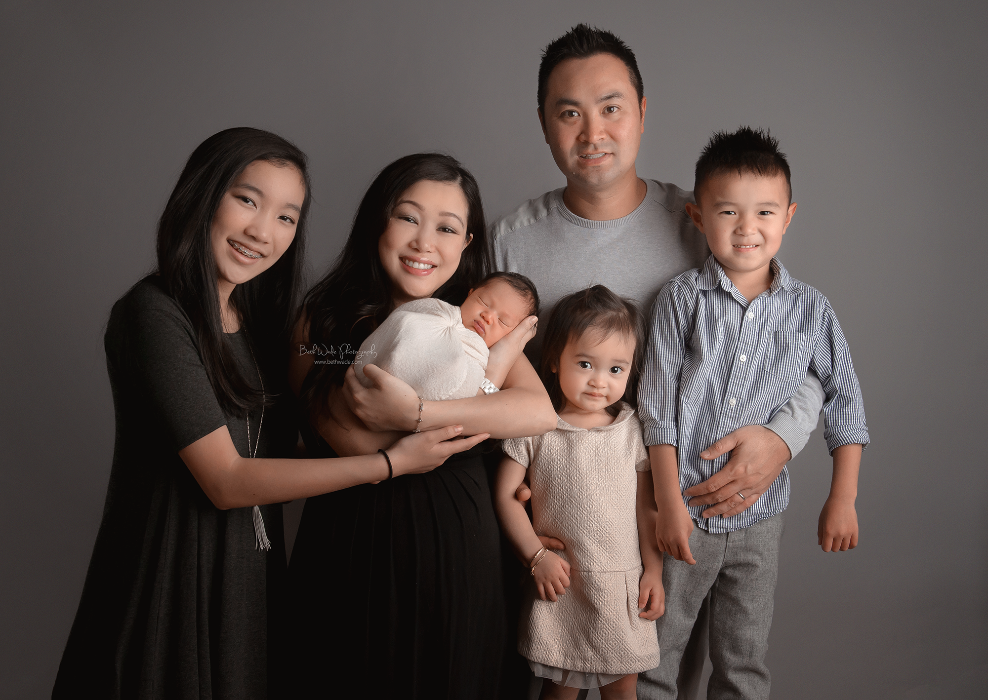 wide eyed baby boy ~ family of 6 {south park newborn photographer charlotte}