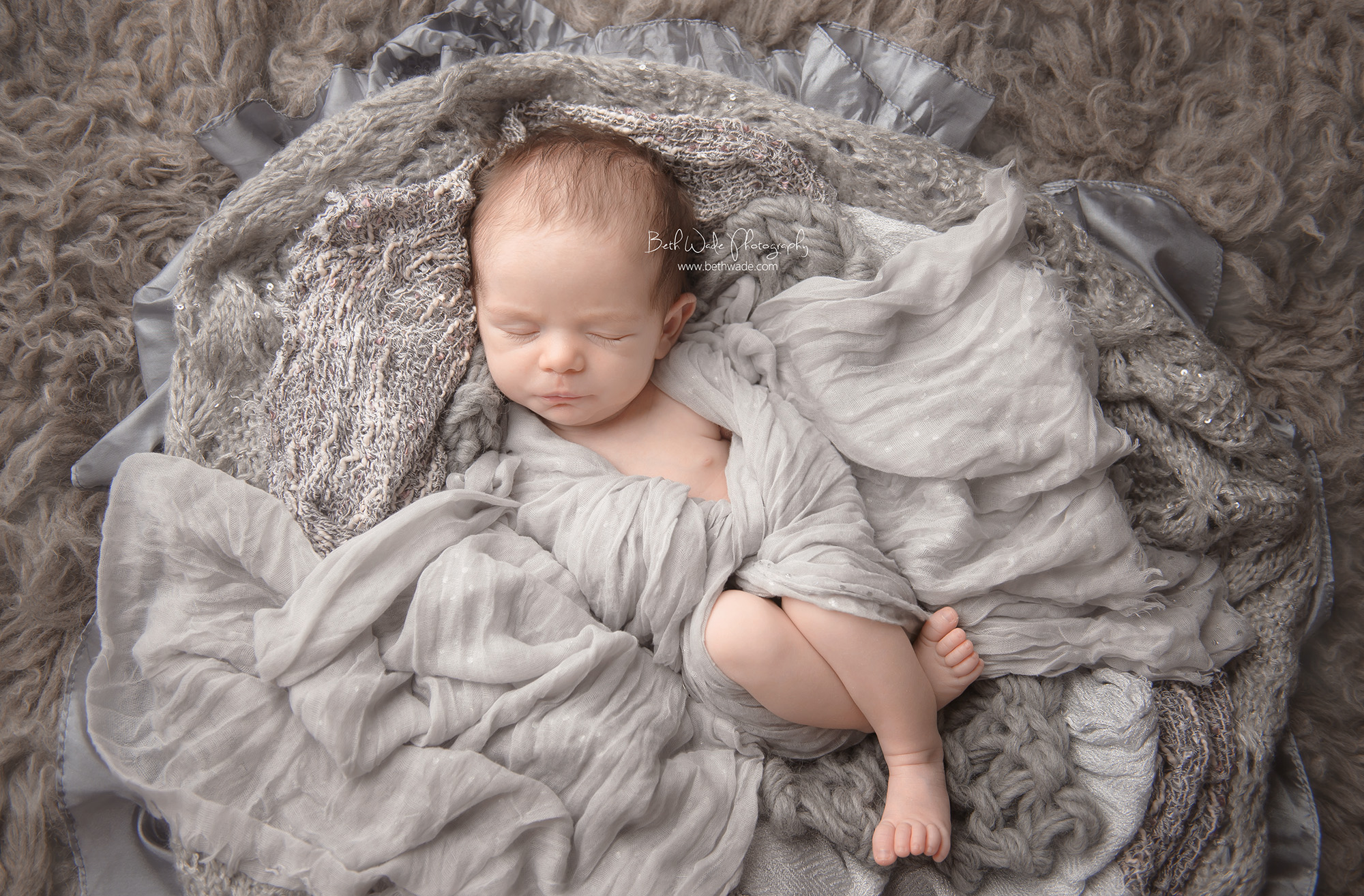Precious 1 month old baby girl family of 3 newborn photographer charlotte nc