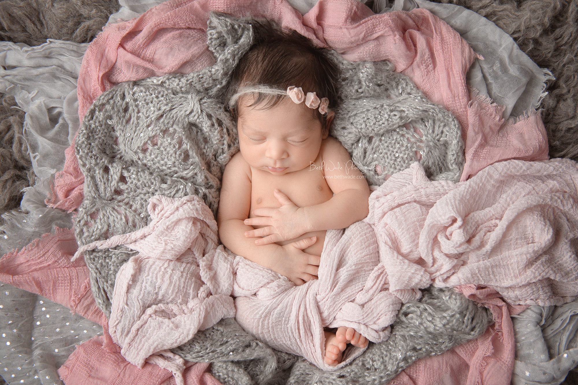 13 day old baby girl ~ pretty in pink {matthews newborn photographer}