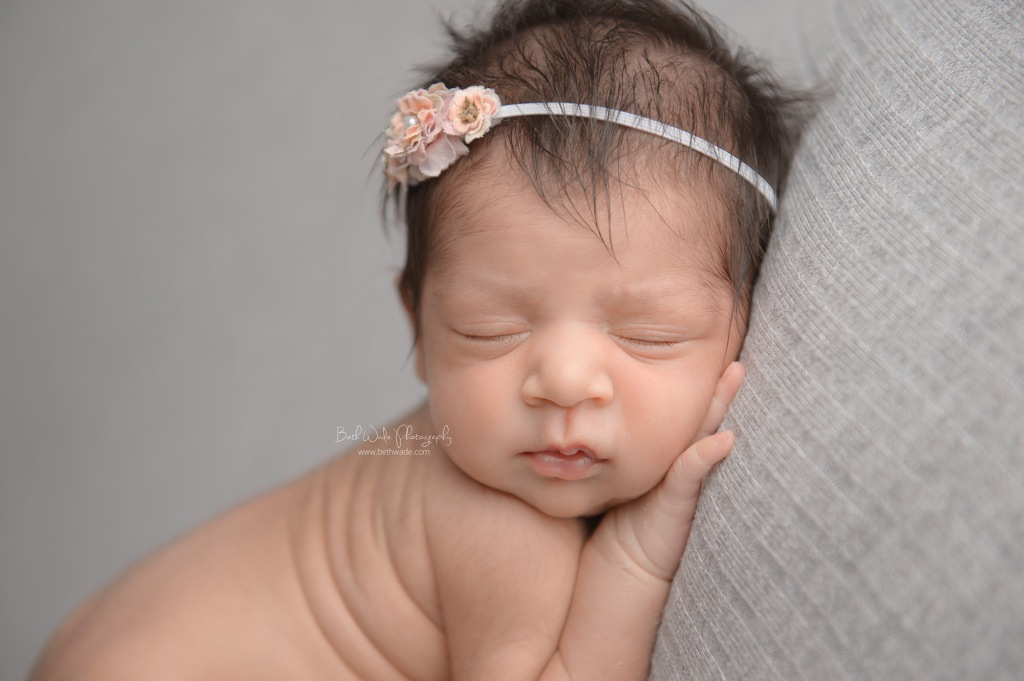 13 day old baby girl ~ pretty in pink {matthews newborn photographer}
