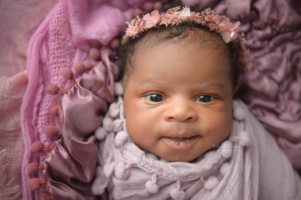 cheeky 14 day old baby girl {south charlotte newborn photographer}