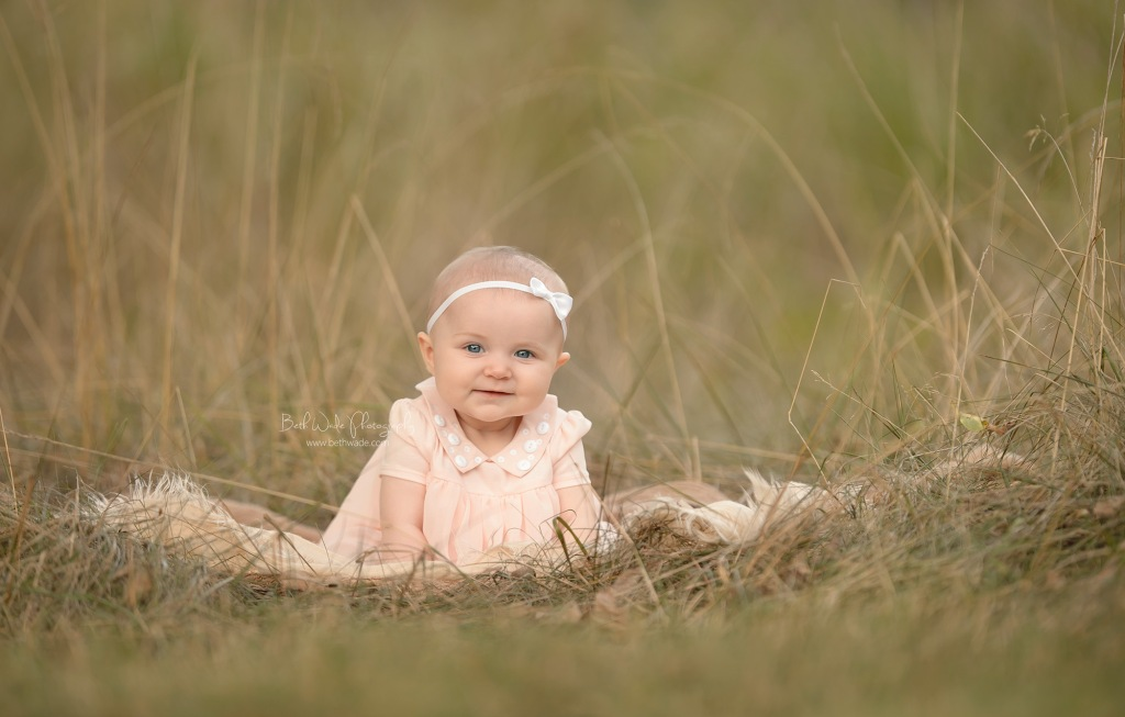 sweet alice jane ~ 6 month sitter session {lake wylie baby photographer}