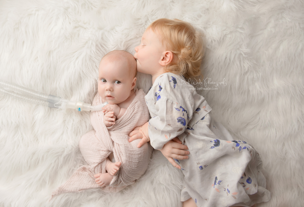 surprise baby sister ~ family of 4 {steele creek newborn photographer}