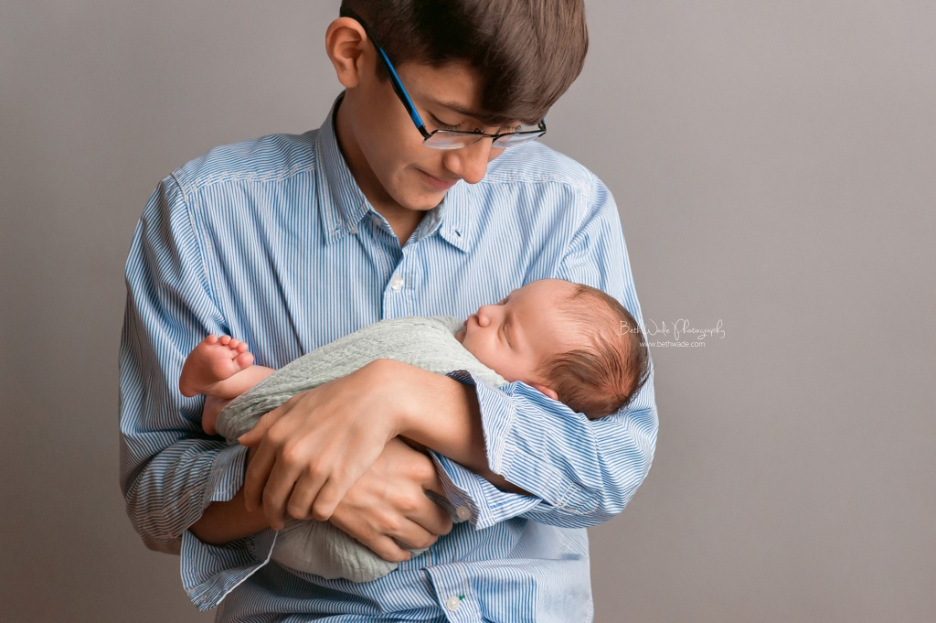 little brother ~ 8 day old baby boy {palisades newborn photographer}