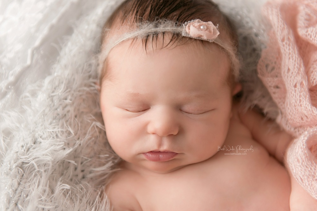 happy 11 day old baby girl  {south charlotte new born photography}