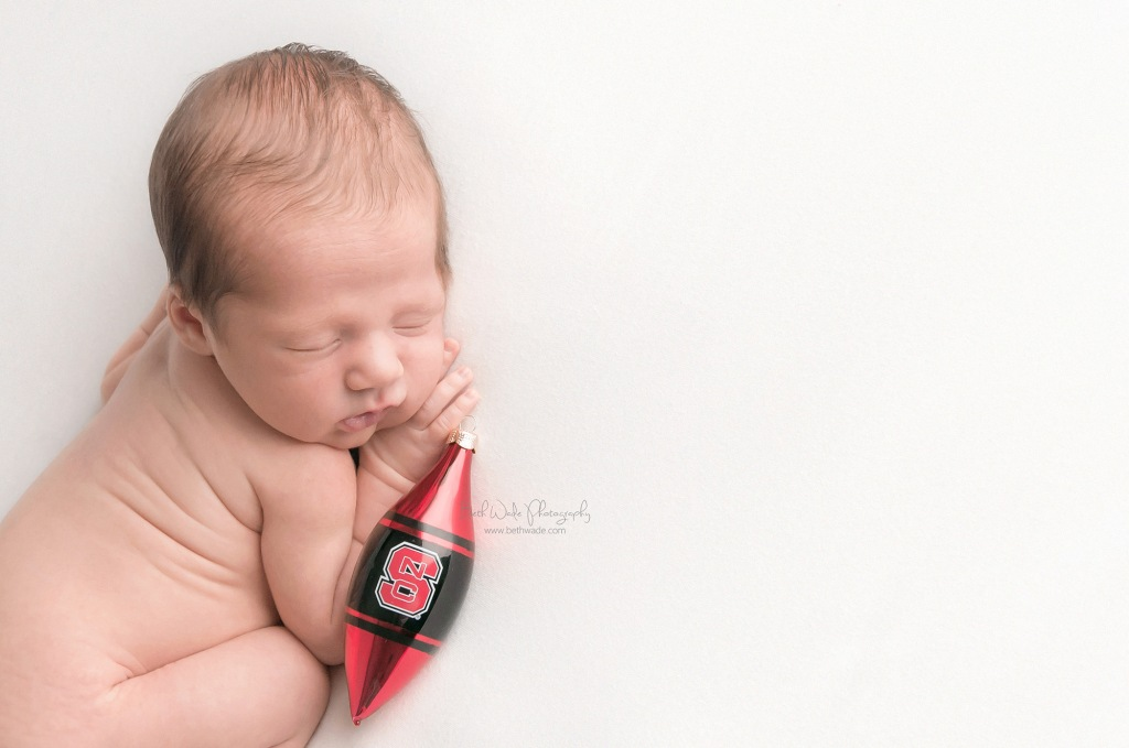 22 day old baby boy ~ furry big brother {plaza midwood newborn photographer}