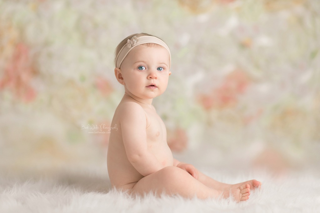 alice jane bare bum ~ our girl is 1 year old {lake wylie baby photographer}