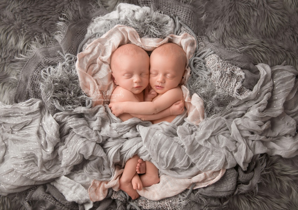 20 day old sisters ~ newborn twin girls {charlotte baby photographer}