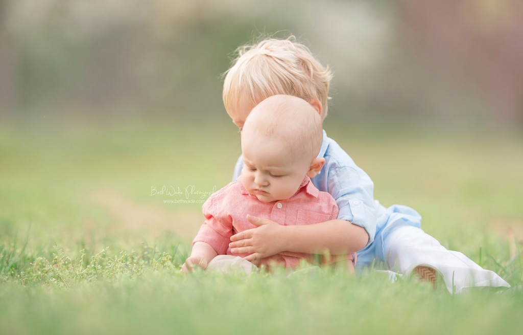 6 month old little brother {fort mill baby photographer}