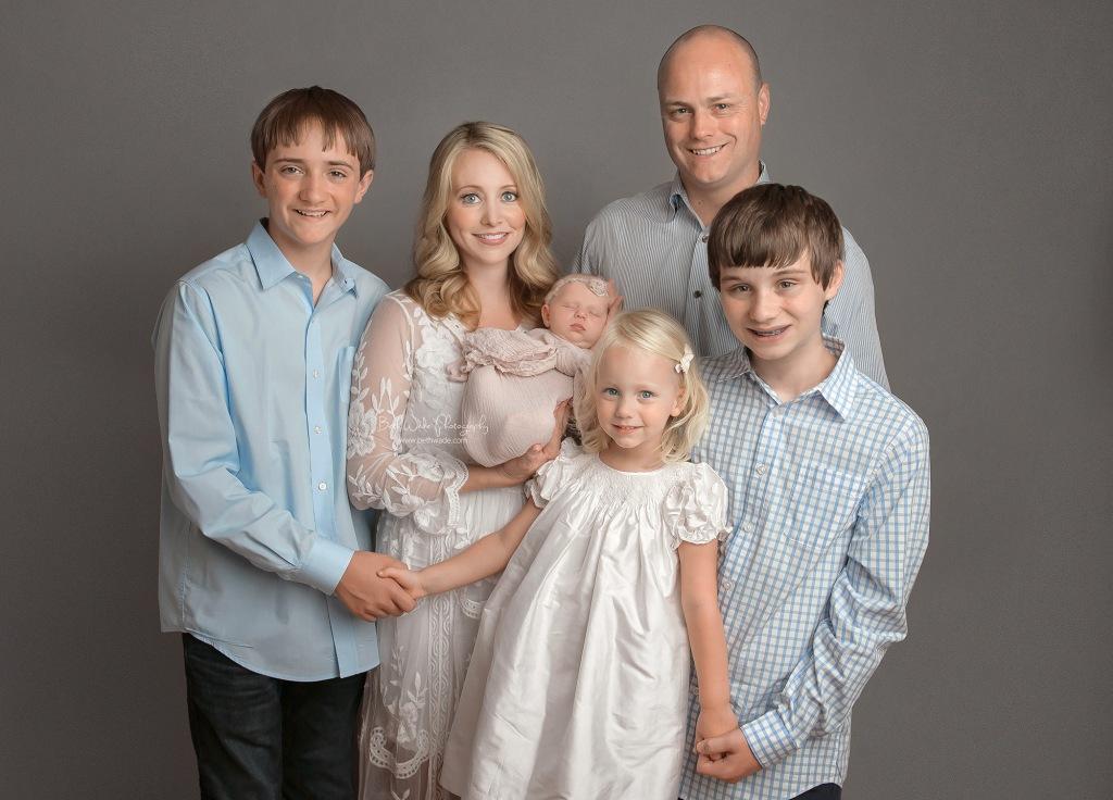family of 6 ~ baby sister surprise {south carolina newborn photos}