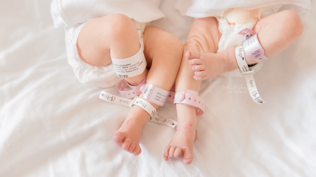 baby woland twin girls birth-fresh 48 video {charlotte new born photos}