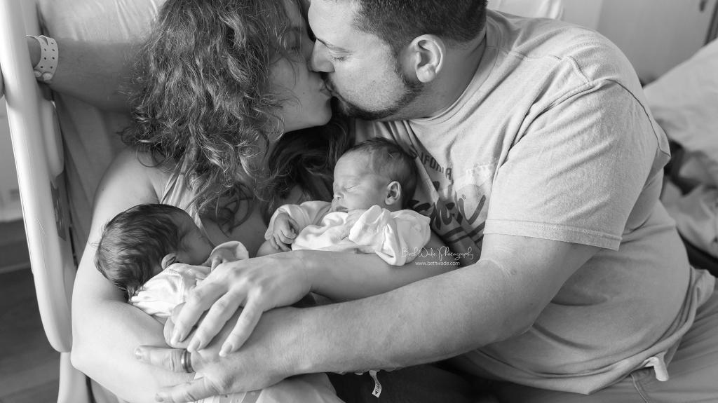 baby woland twin girls birth-fresh 48 video {charlotte new born photos}