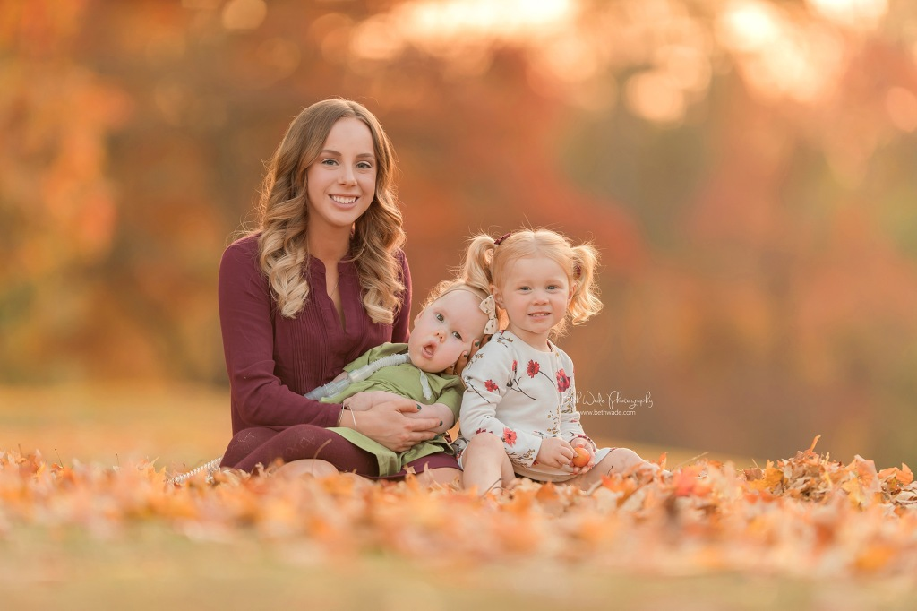 autumn leaves ~ family holiday session {south charlotte baby photos}