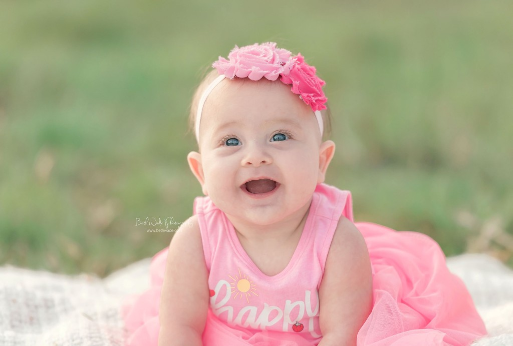 6 month old twin sisters ~ spring blooms {waxhaw baby photos}