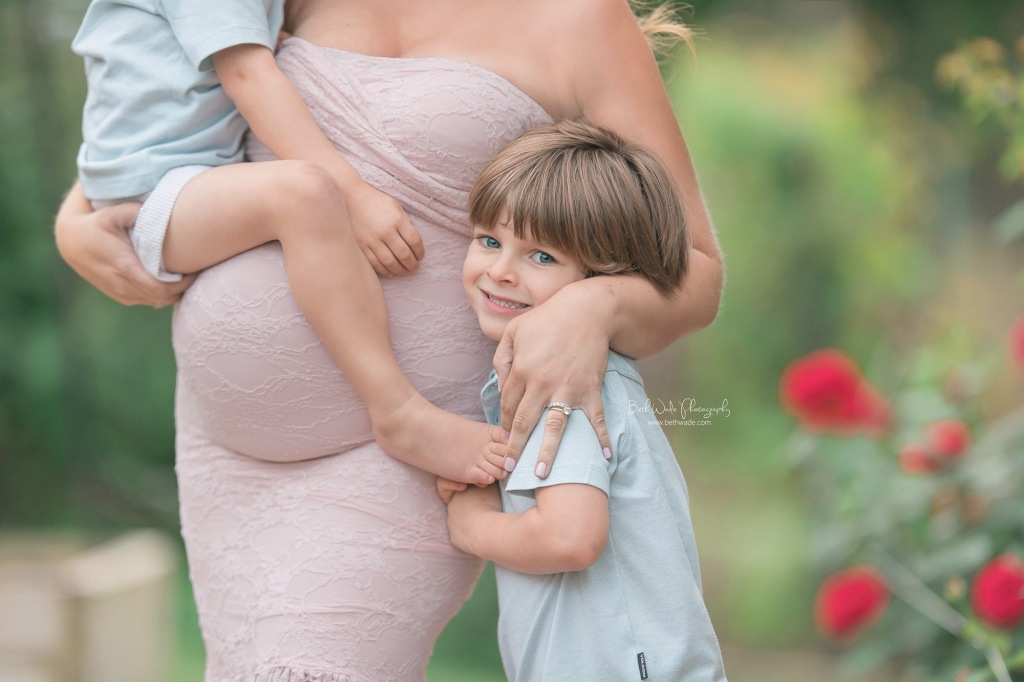 little sister ~ almost family of 6 {pineville maternity photographer}