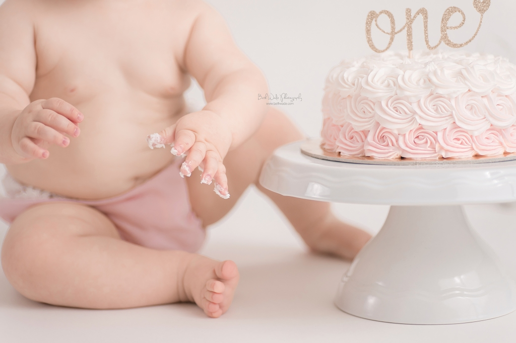 baby girl's first birthday {arboretum baby photographer}