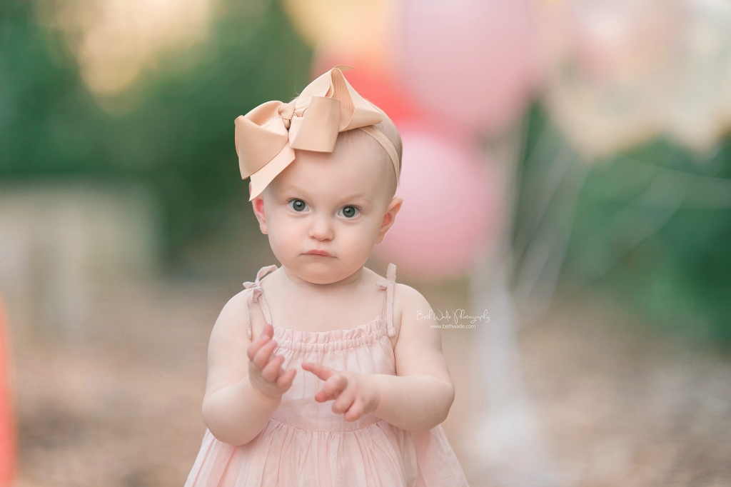 happy 1 year baby girl {huntersville family photography}
