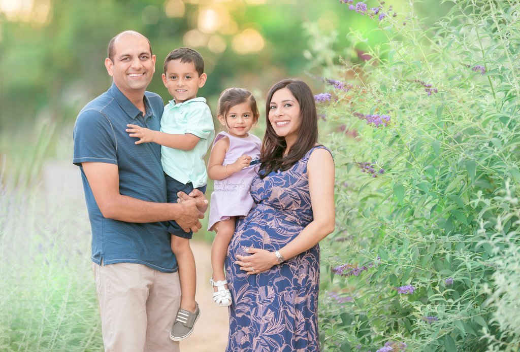 gender surprise ~ almost family of 5 {davidson maternity photography}