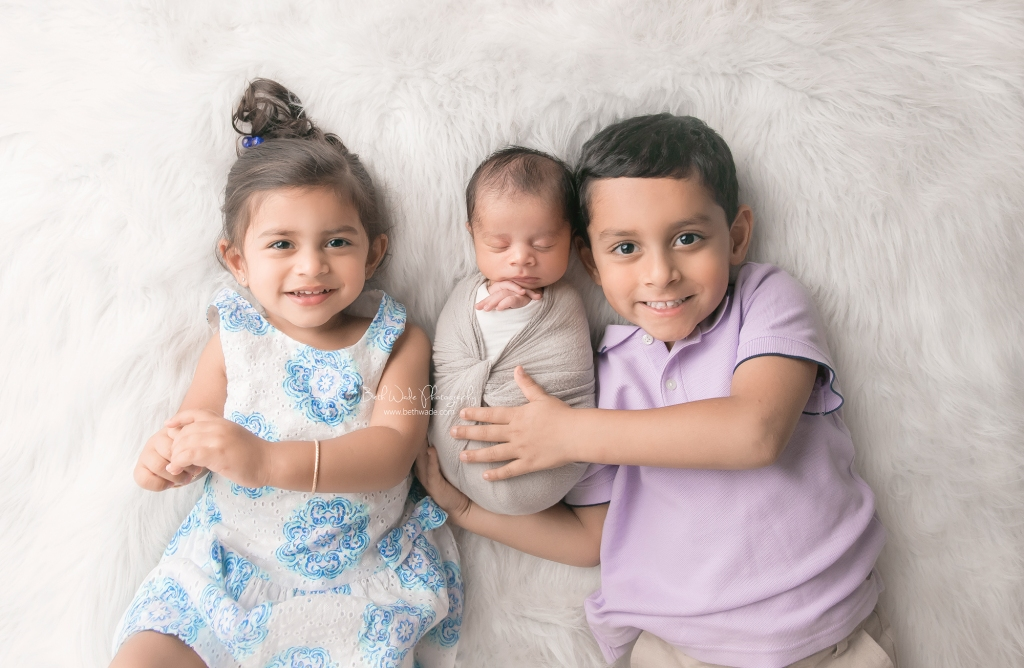 baby brother makes 3 ~ family of 5 {davidson newborn photos}